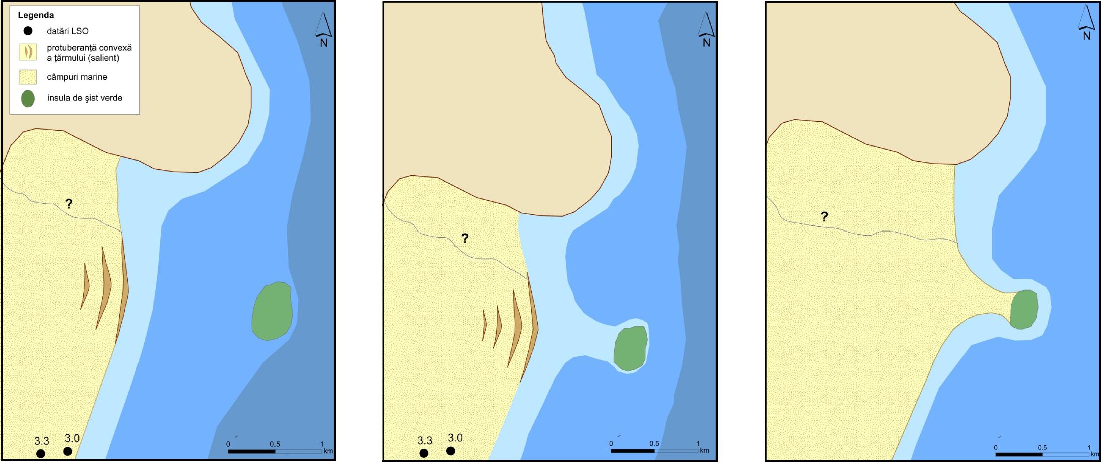fig. 4 modelul conceptual al formarii tombolo-lui
